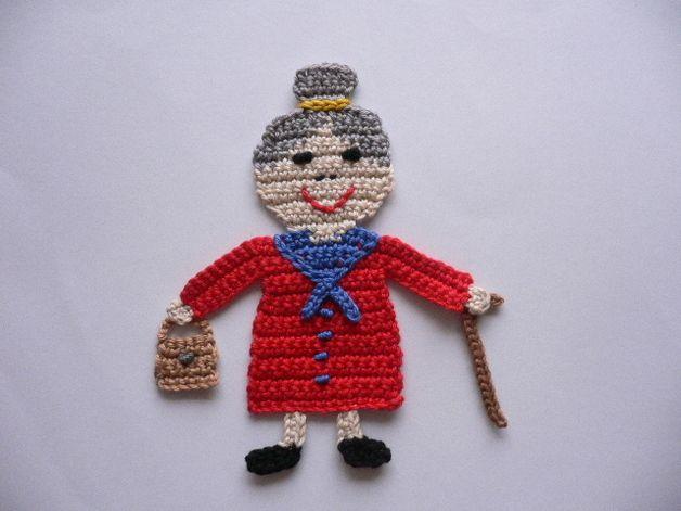 Oma - Häkelapplikation | ◇ Crochet appliques ◇ | Pinterest | Omas ...