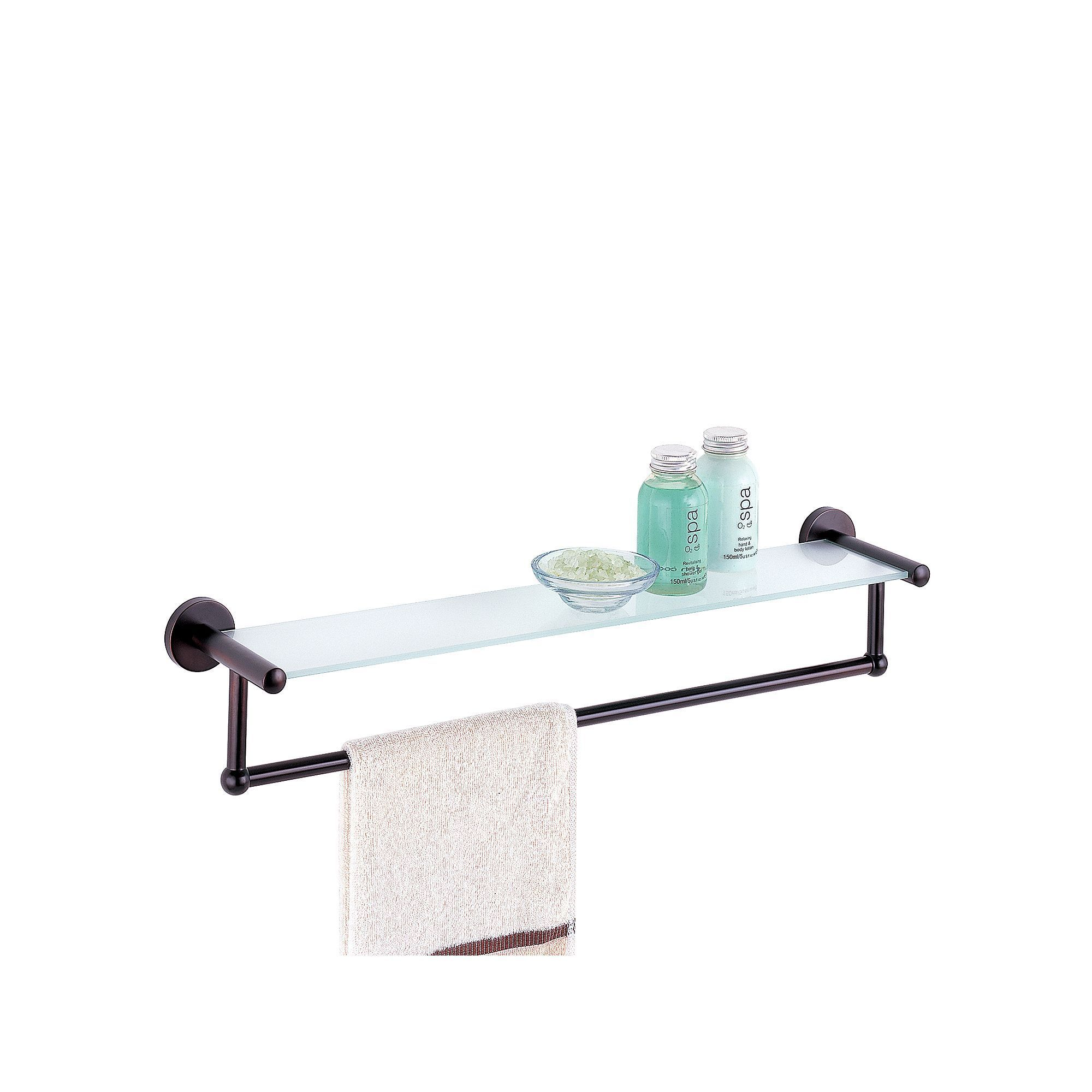 Neu Home Glass Shelf Towel Rack - Bronze | Glass shelves, Towels and ...