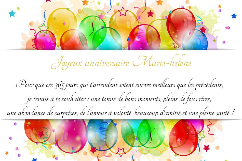 Cartes Virtuelles Joyeux Anniversaire Marie Helene Carte