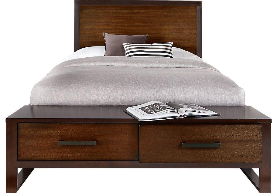 Best Abbott Hazelnut 3 Pc Queen Panel Bed With Storage 640 x 480