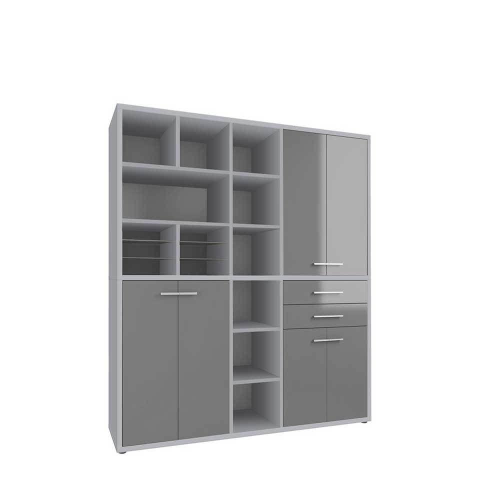 Büro Highboard in Grau Glas Jetzt bestellen unter: https://moebel ...