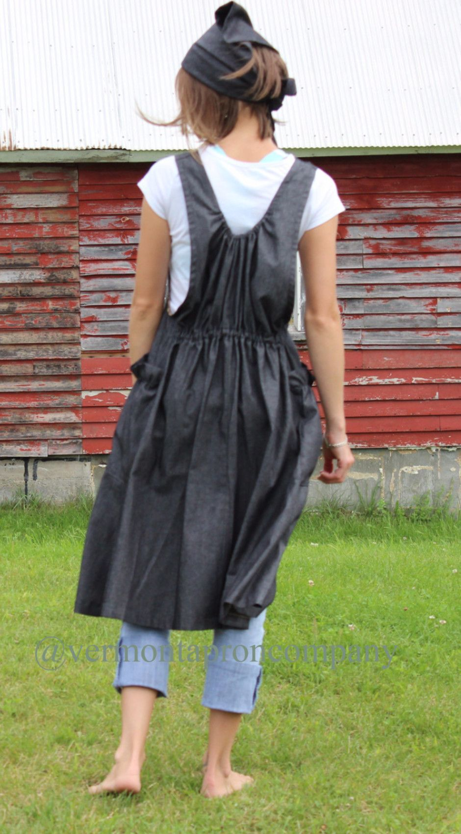 Similar To Our No Tie Aprons We Added A Softly Gathered Back The