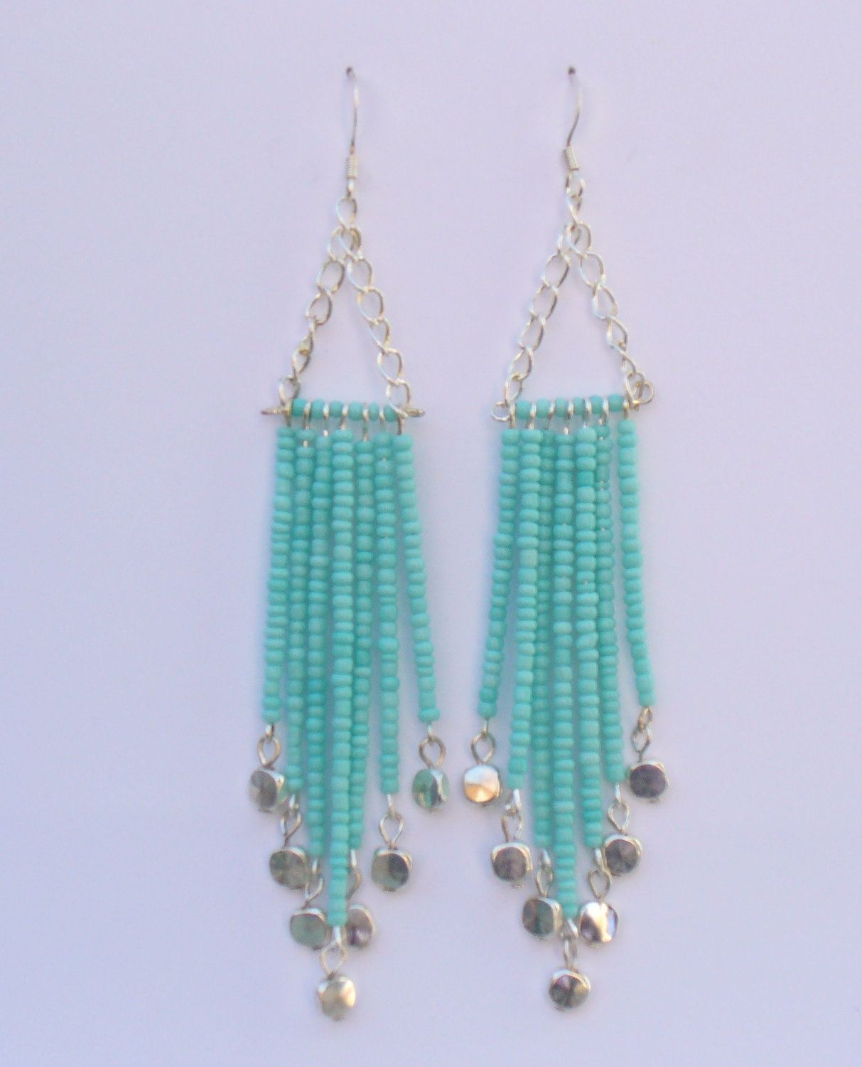 Seed Bead Chandelier Earrings By Lizzysblingythingys On Cute Design Do Shorter Version