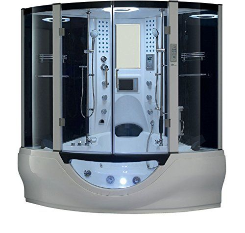 Valencia Steam Shower Sauna With Jetted Jacuzzi Whirlpool Massage Bathtub Hot Tub Suana Spa To View Further For This Item Visit The Image Link Steam Showers