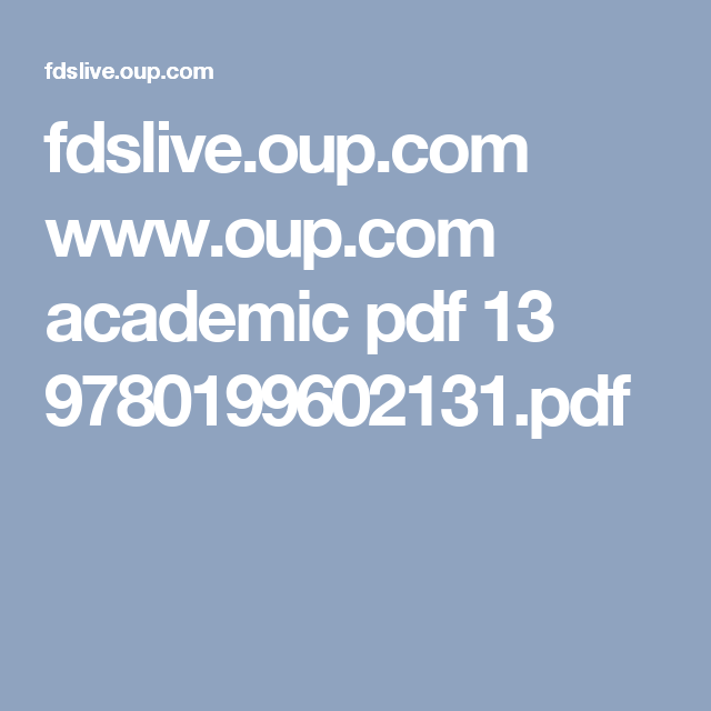 fdslive oup com www oup com academic pdf 13 9780199602131 pdf