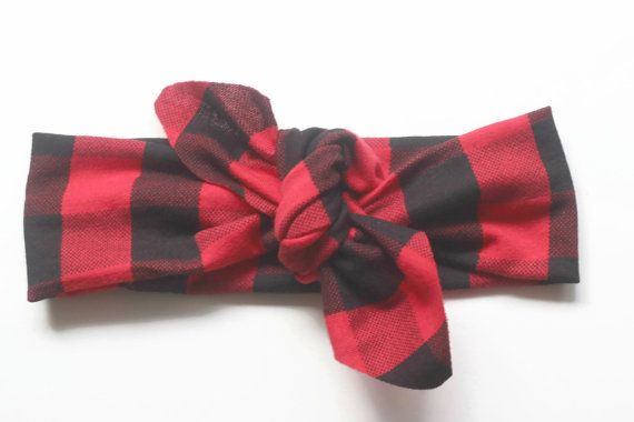 Buffalo plaid headband 1b59d21baee