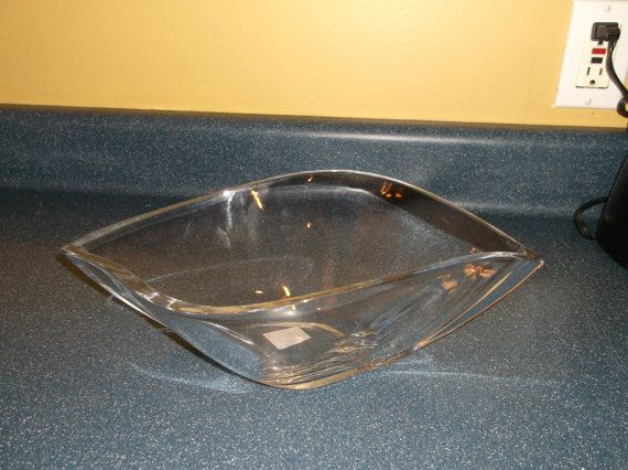Vintage Crystal Bowl Retro Shape 13 by Mikasa by TJCollectables, $34.99