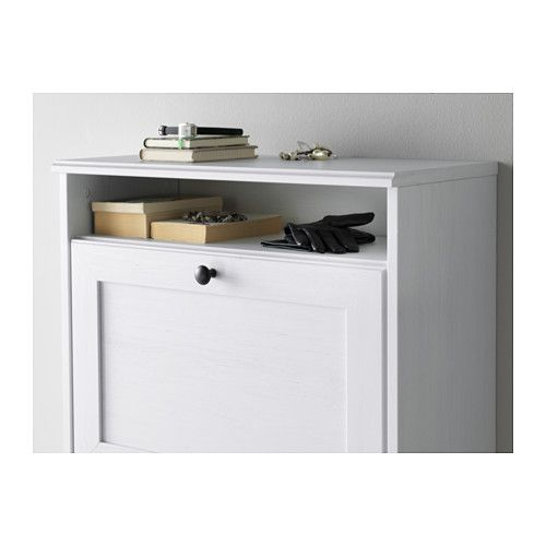 Brusali Shoe Cabinet With 3 Compartments White 24x51 1 8