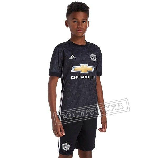 Ensemble Du Flocage Maillot De Manchester United Enfant Noir