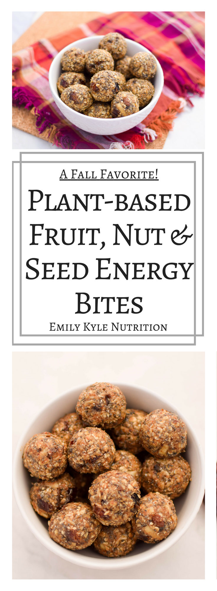 Fall is here! Fuel your body with these all natural, plant-based energy vegan fruit, nut & seed energy bites!