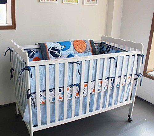 New 7 Pieces Baby Boy Sport Crib Bedding Set F C L