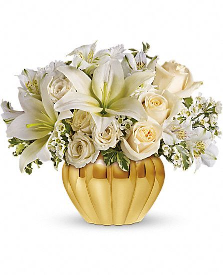 Flower For 50th Wedding Anniversary: Teleflora's Touch Of Gold Flowers