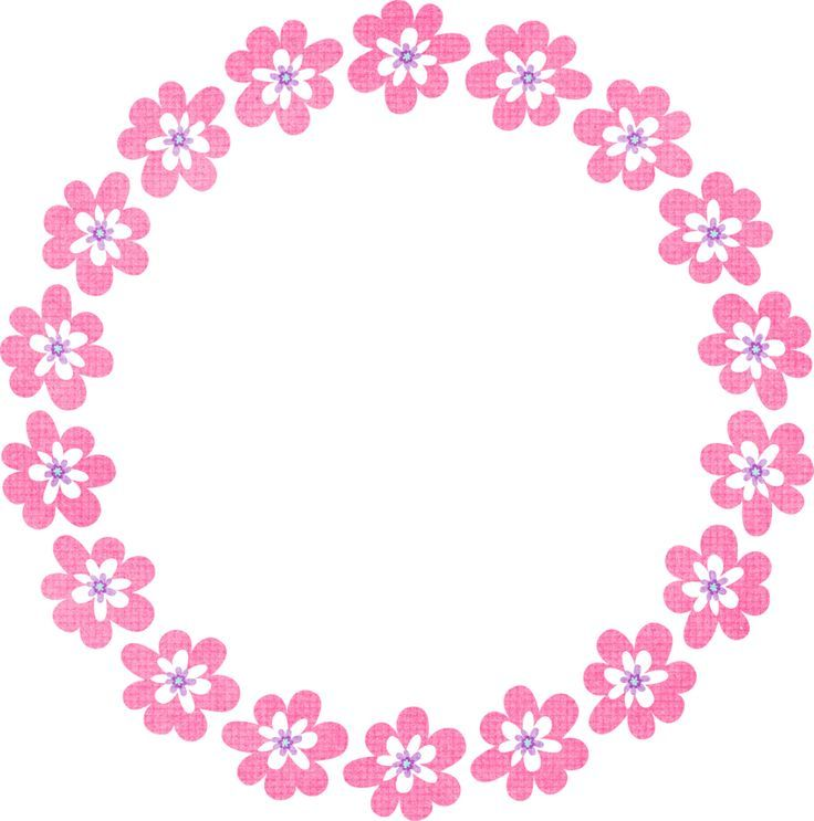 103 Awesome Circle Flower Clipart Maruthi Page Borders