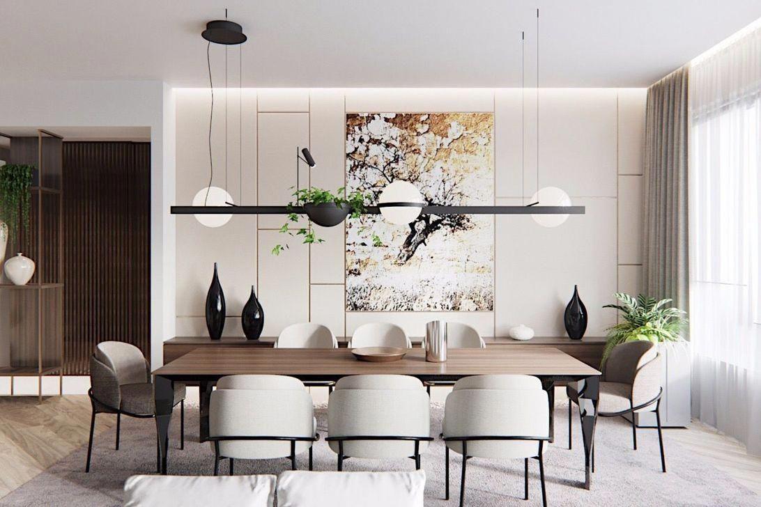Salon Table À Manger luxe salle à manger avec des accents de marbre