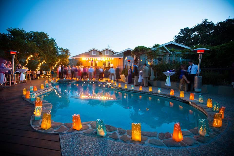 Swimming Pool Decorations, Pool Wedding
