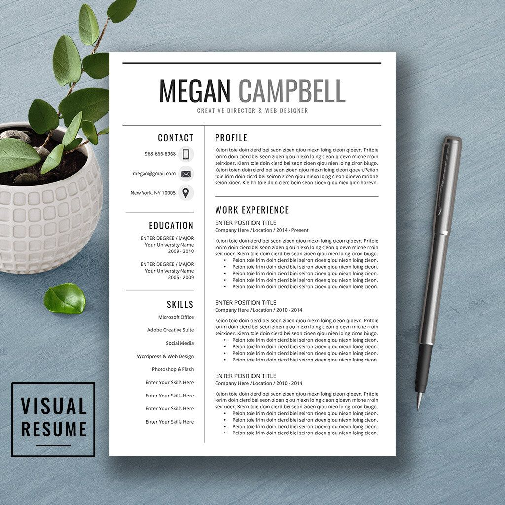 professional resume template, free cover letter, references, word