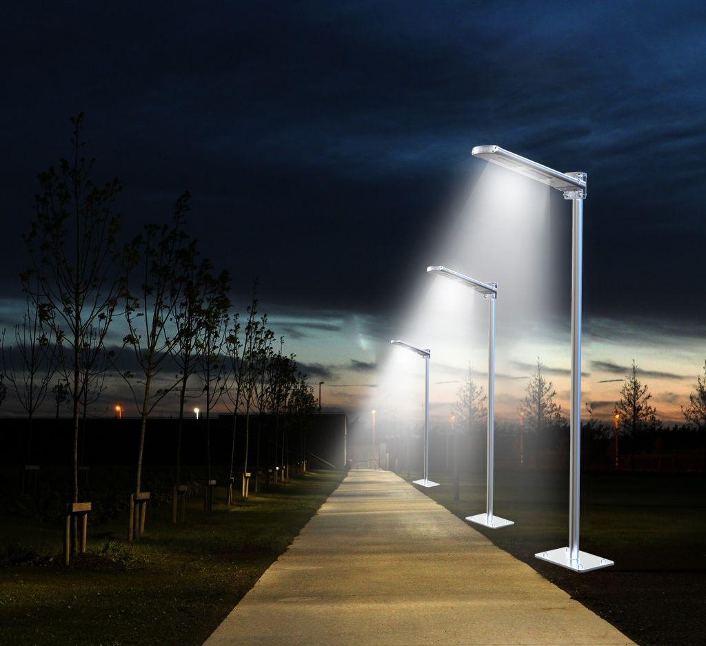 Forza solar l mpara solar todo en uno calle jard n el Iluminacion para jardines energia solar