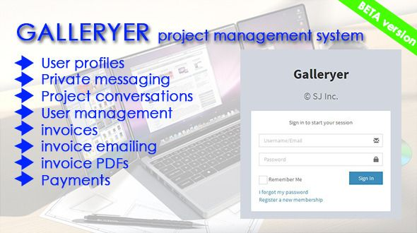 Galleryer (Project Management Tools) Download #client #codeigniter - invoice system free