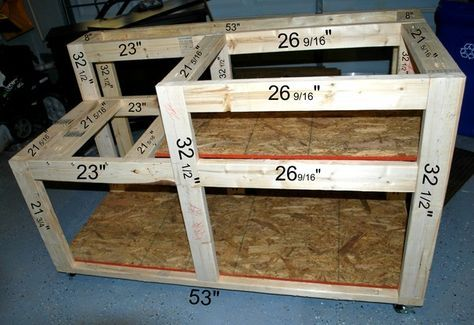 Table Saw Workbench With Wood Storage Workbenches Pinterest