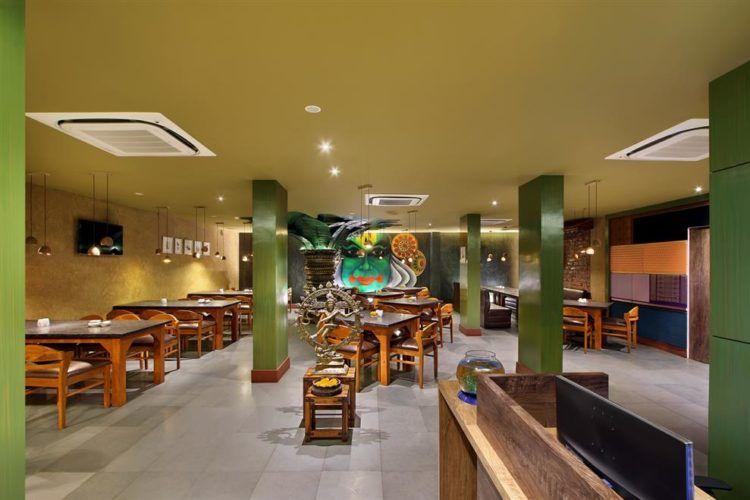 Wall Mural Is A Major Highlight In South Indian Restaurant Restaurant Interior Design Interior Design Photos Wall Murals