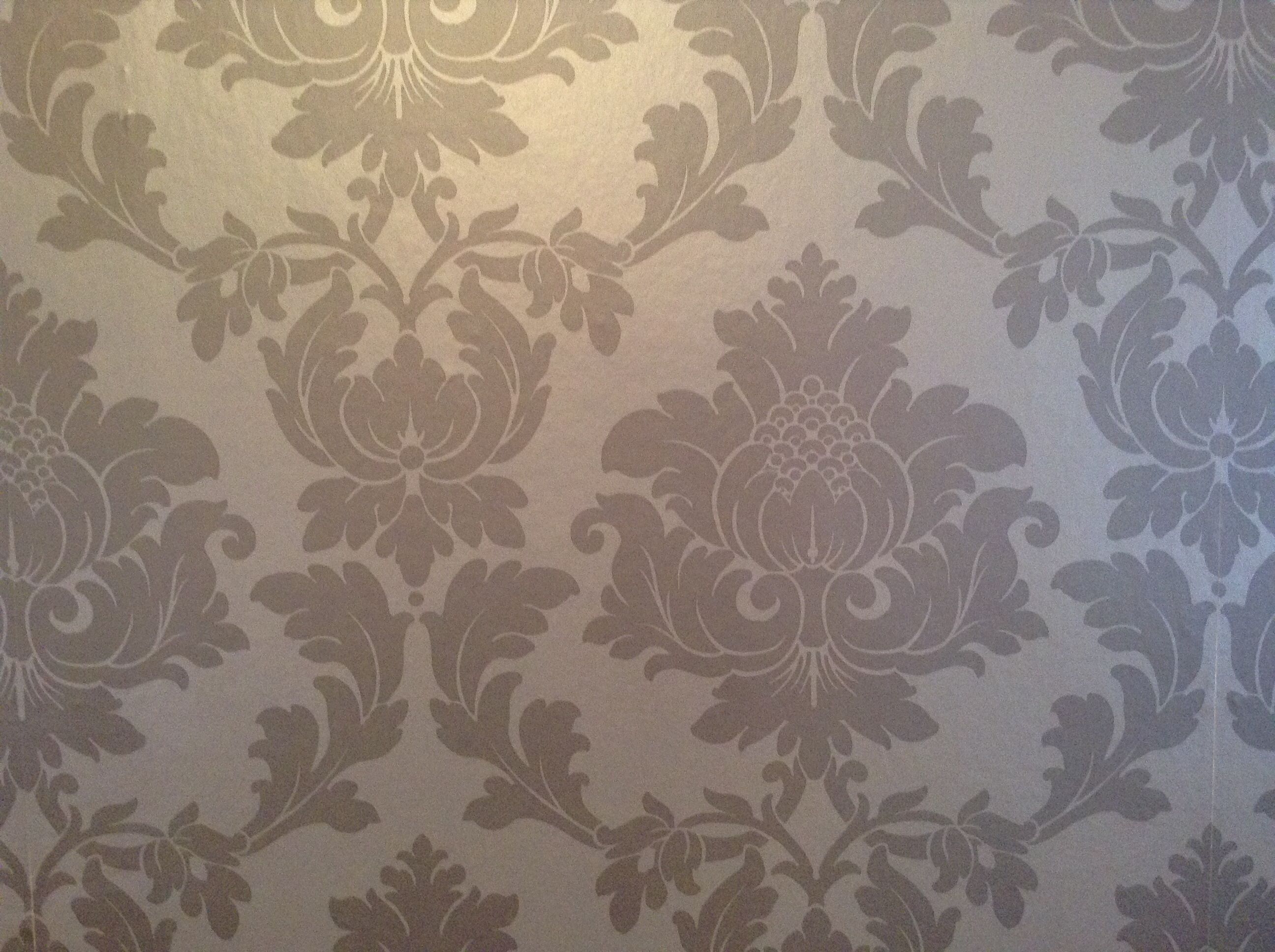 Living room wallpaper texture - Mink Damask Print Wallpaper
