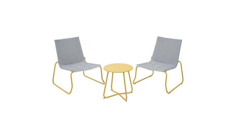 Ventura 3 Piece Bistro Grey And Yellow Read Reviews And Buy
