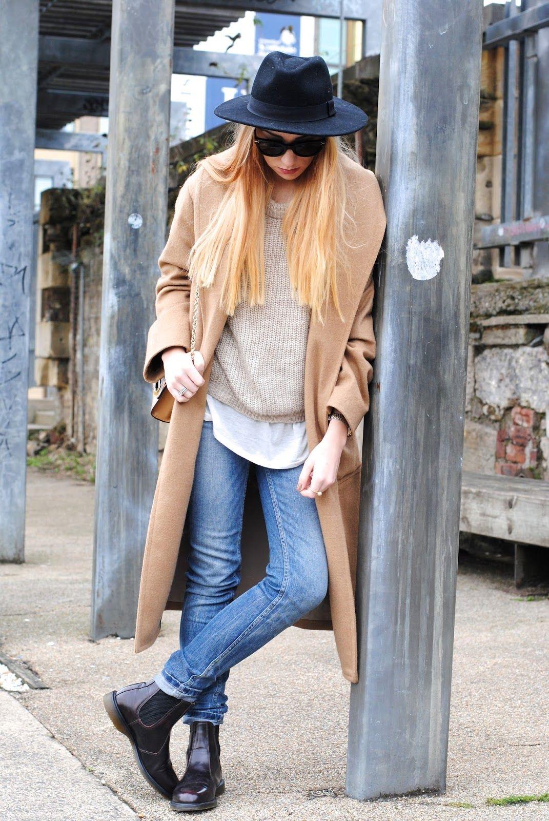 311c3f09dae Dr Marten Flora Boot (c/o) | Mango Coat | Zara Tee | Celine Sunnies ...
