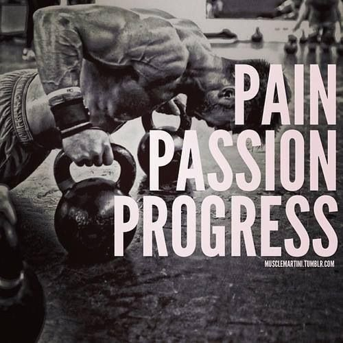 Bodybuilding Inspirational Quotes Pictures: Pain, Passion, Progress #fit #fitness #bodybuilding