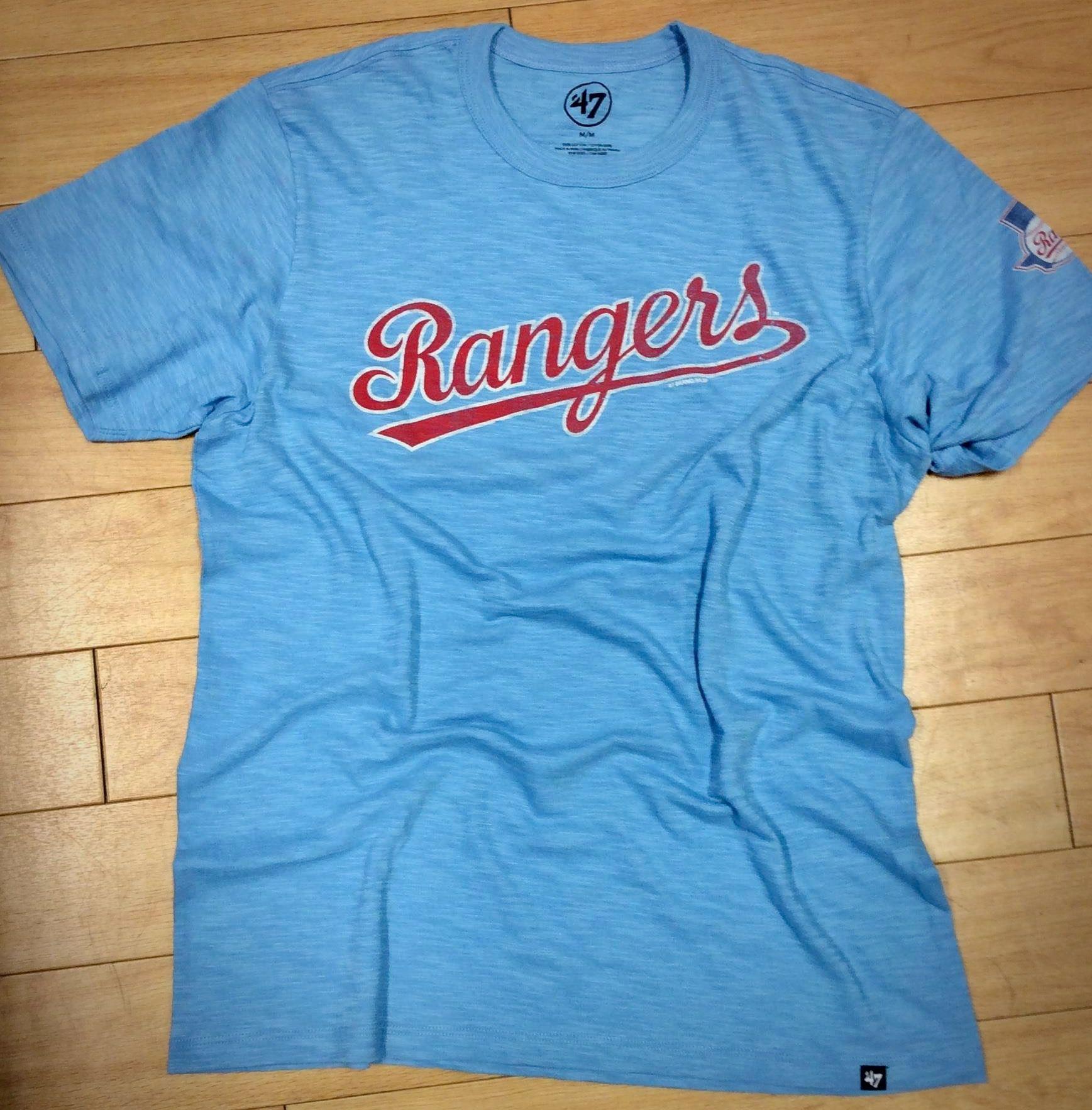 47 Texas Rangers Light Blue Two Peat Short Sleeve Fashion T Shirt 4808754 Texas Rangers T Shirts Texas Rangers Ranger