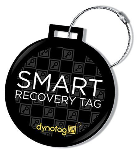 Web Enabled Smart Dlx.Steel Luggage ID Tag+ Steel Loop w. DynoIQ & Lifetime Recovery Service Web/GPS & Web powered: Every has a PRIVATE web page, works ANYWHERE on the globe with Internet. Setup or view using ANY modern web browser on any device - no smartphone required. Maintenance Free: Tough, waterproof, impact-proof with