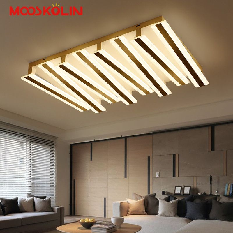 Ceiling Lights & Fans Lights & Lighting New Led Modern Ceiling Lights Brown Frame Lustre Fixture For Bedroom Living Room Surface Mount Modern Ceiling Lamp Lustres
