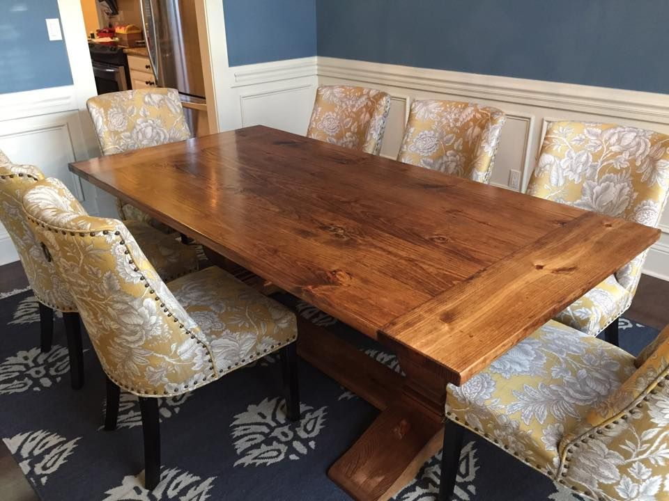 James+James 8 foot Heirloom Pedestal Table with a jointed top and ...