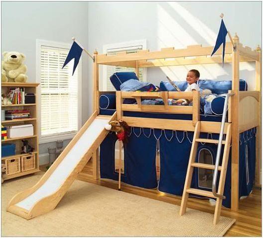 bunk bed with slide kids loft beds