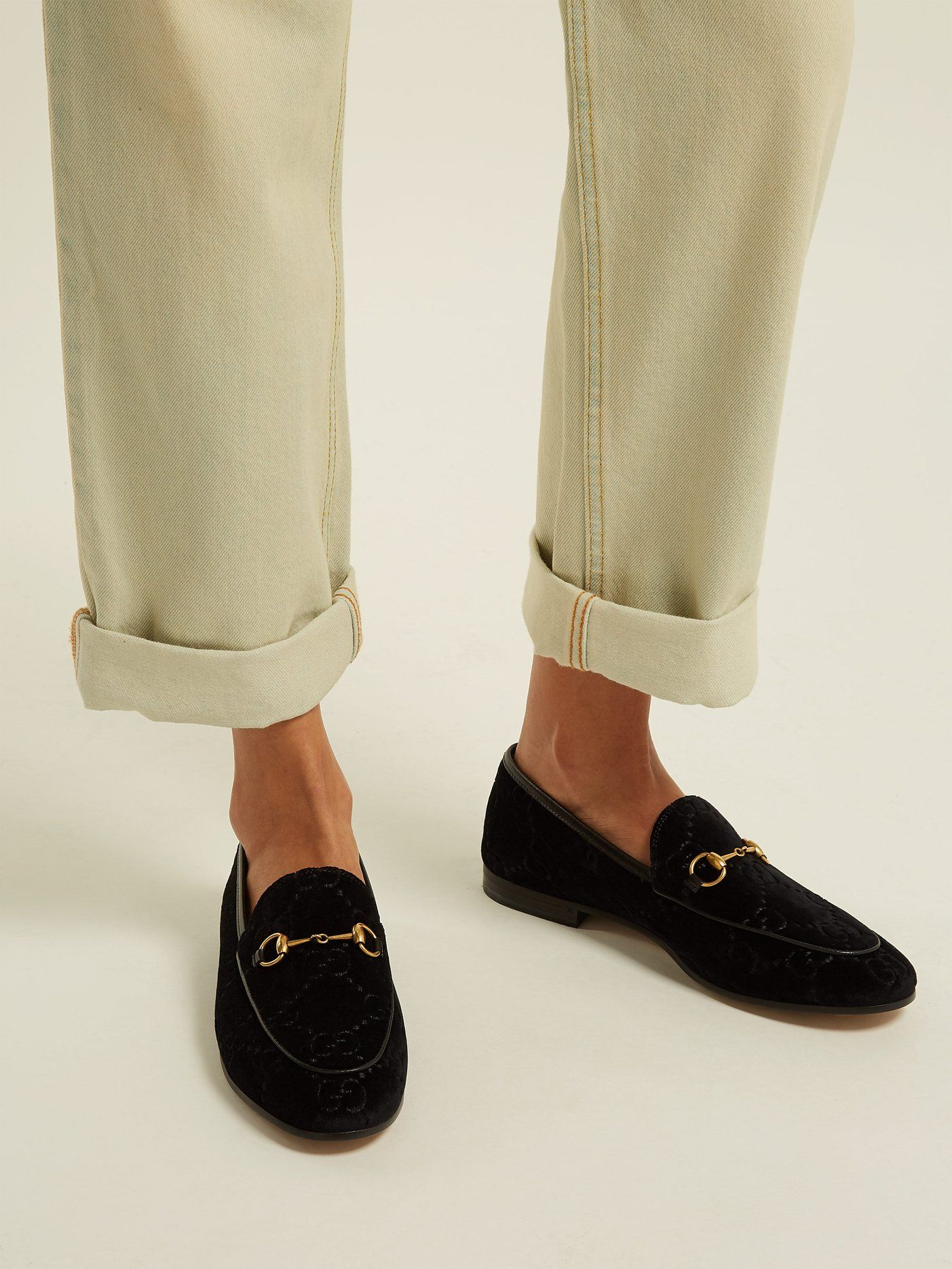 d0deb63ffa9 Jordaan GG velvet loafers
