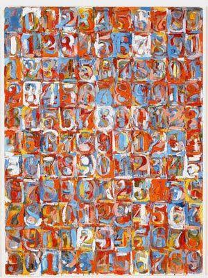 Numbers in Colour, 1958-59, Jasper Johns (Augusta, Georgia, 15 de mayo de 1930) es un pintor, escultor y artista gráfico estadounidense que ha integrado a su expresión pictórica una serie de elementos del Arte Pop.