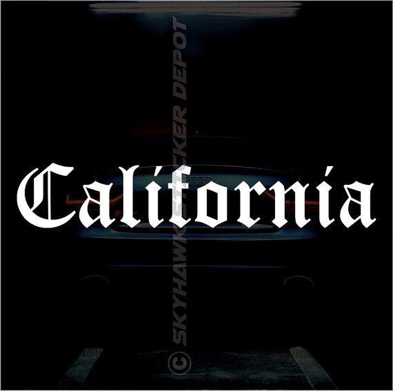 California State Self Adhesive Bumper Sticker Vinyl Decal California Decal  CA United States Sticker Car Sticker Macbook Pro Laptop Sticker