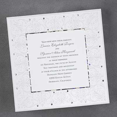 Jeweled Love Square Wedding Invitation httpbustlingbride