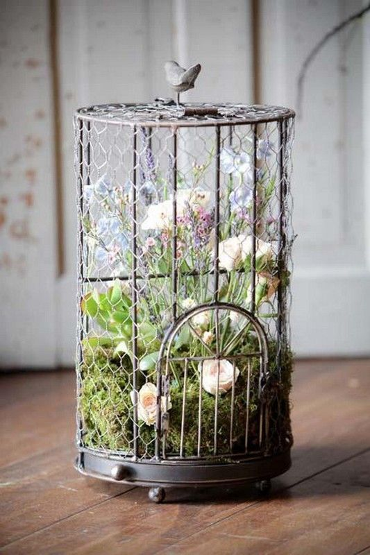 Joli d cor mariage cage a oiseaux cages oiseaux - Cage oiseau decoration ...