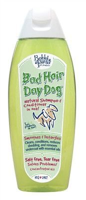 Bad Hair Day Dog Shampoo. Made with all natural ingredients and serving a special purpose for your grooming needs.
