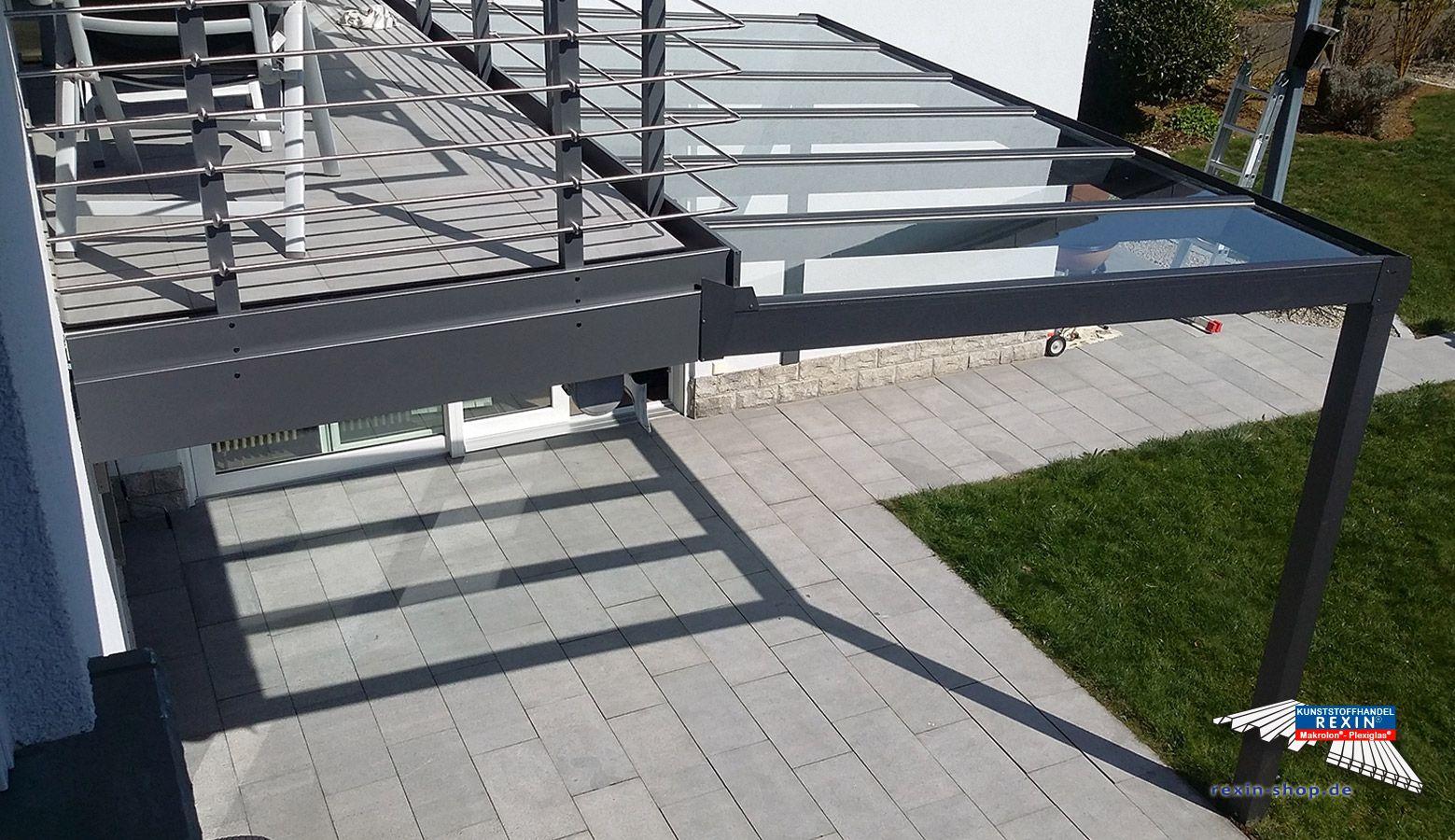 Ein Alu Terrassendach Der Marke Rexopremium 4m X 2 5m In Anthrazit