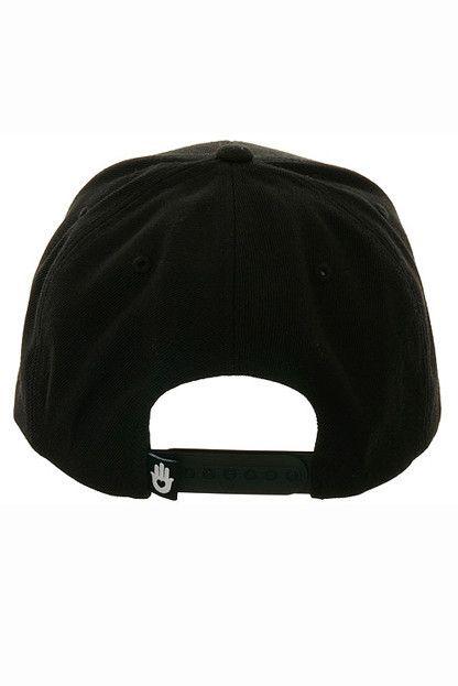 2c18a31c5e6 Spiritual Gangster Script Logo Snapback Black on Black - Spiritual Gangster  - 3