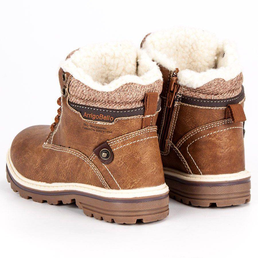 Polbuty I Trzewiki Dzieciece Dla Dzieci Arrigobello Arrigo Bello Brazowe Chlopiece Ocieplane Traperki Boots Ugg Boots Winter Boot