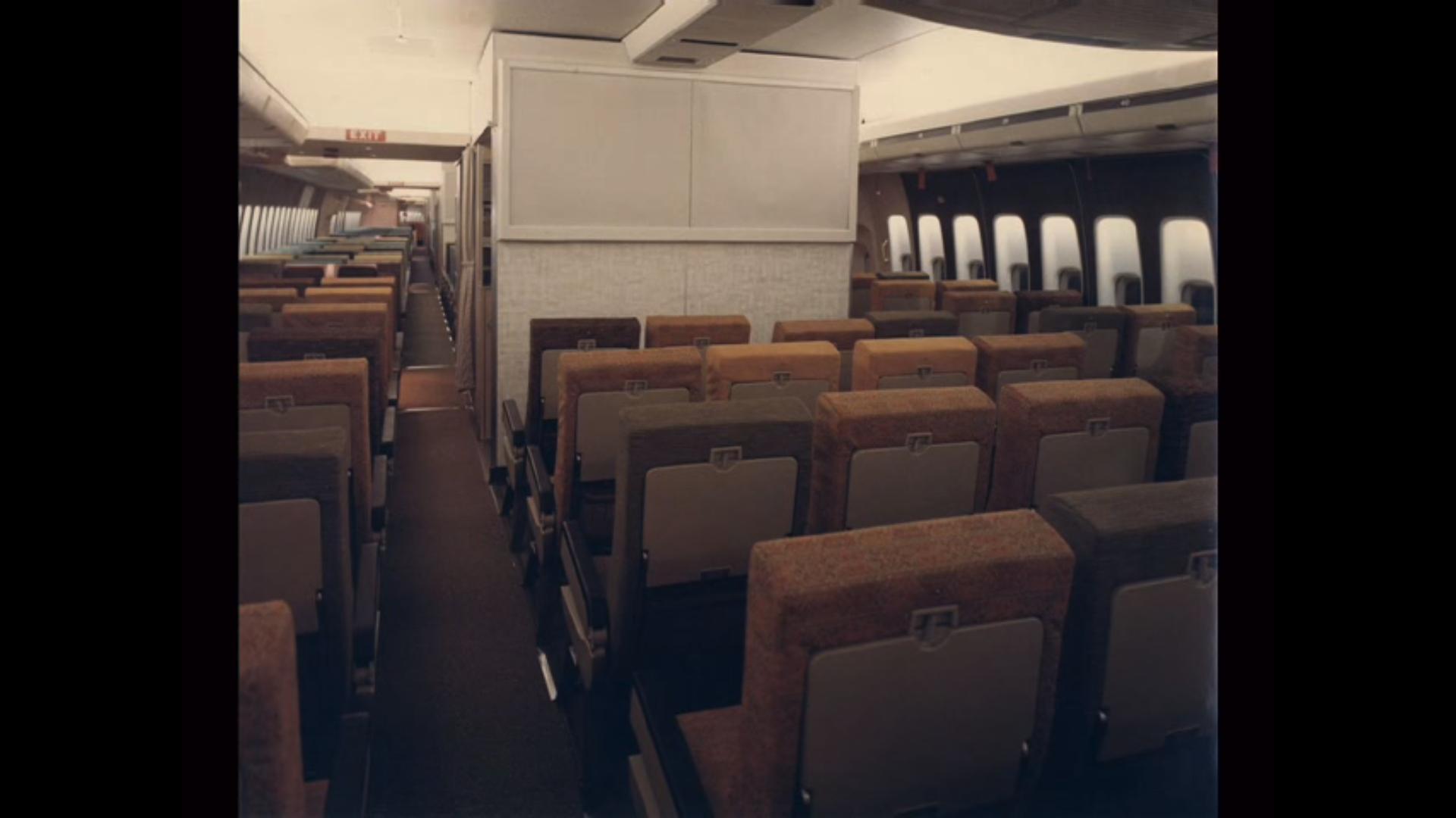 TW 747 Lounge   In June 1971, TWA introduced a lounge in B ...  Twa 747 Cabin