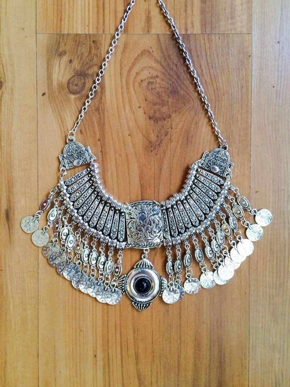 6636318b6 Maxi colar prata turco moedas - estilo gypsy | Gypsy in me | Jewelry ...