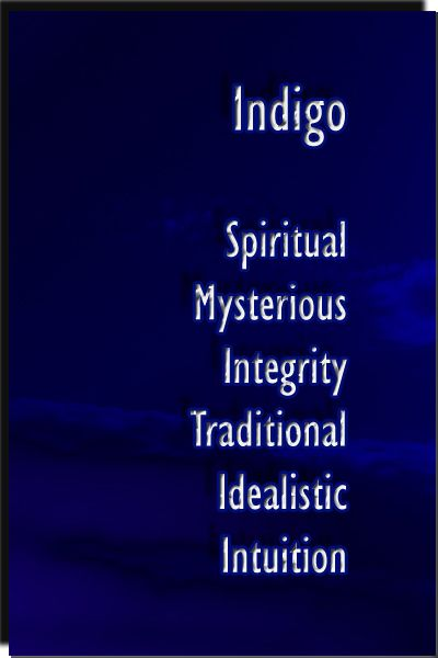 Color Indigo personality meaning & effects