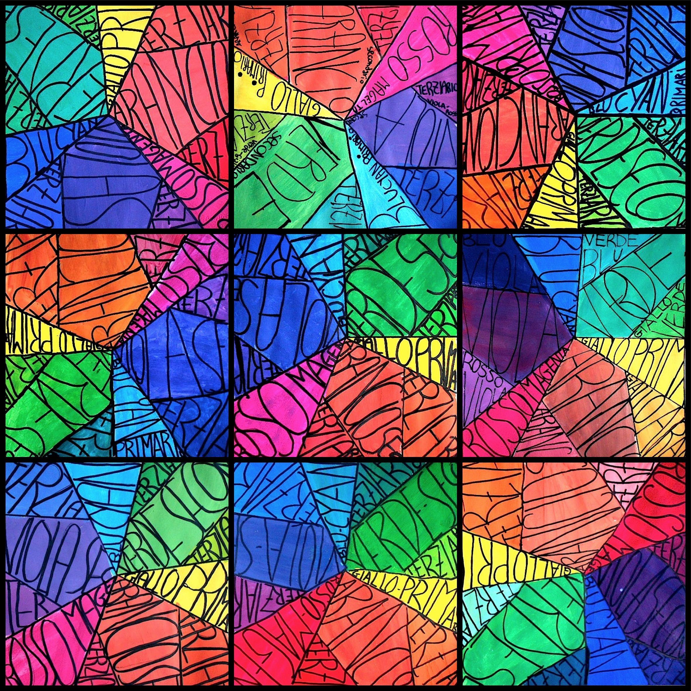 The Color Wheel In A Square