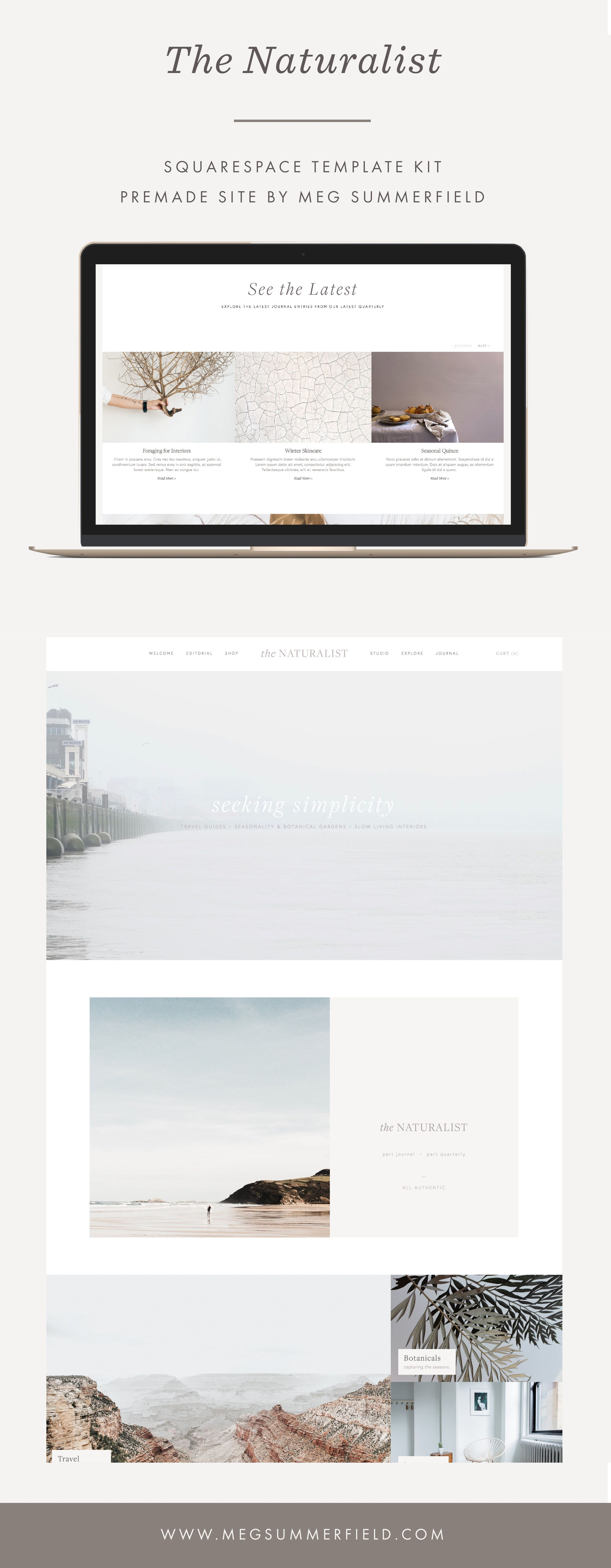 Premade Launch The Naturalist — Meg Summerfield Studio, LLC
