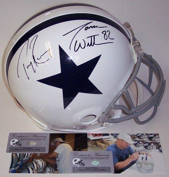 305d5788c Jason Witten & Tony Romo Autographed Hand Signed Dallas Cowboys Throwback  Authentic Helmet - PSA/DNA