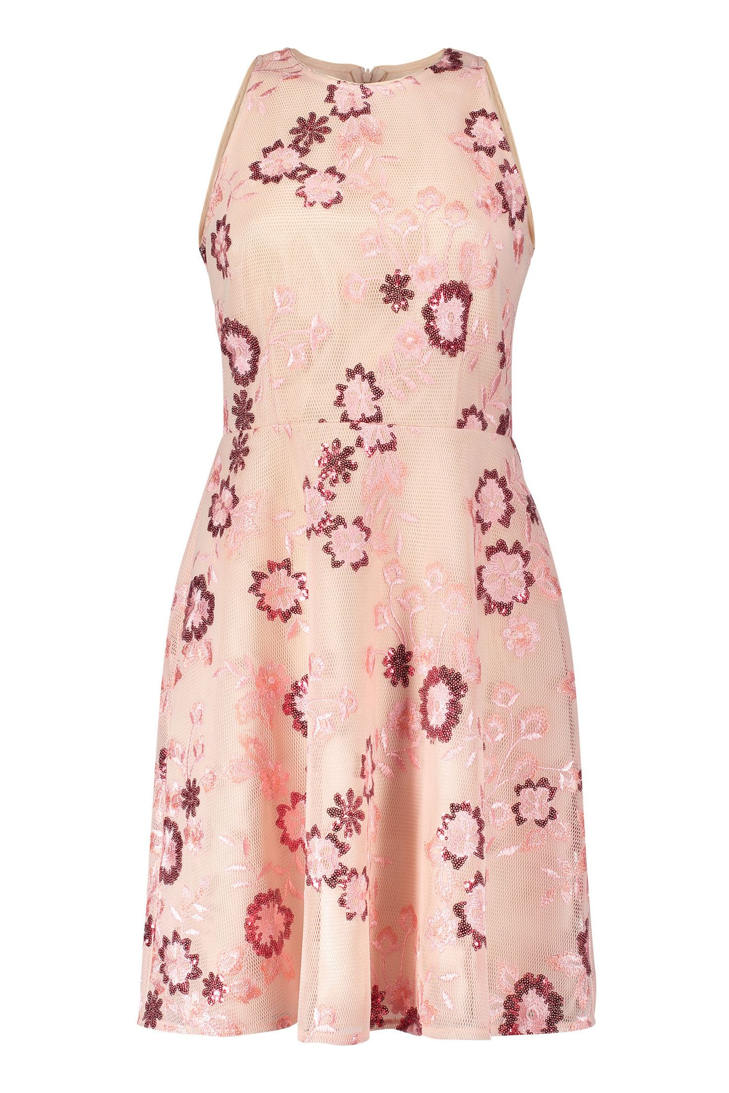 Kleid Blumenmuster Creme Altrosa Vera Mont Mode Bosckens Kleid Blumenmuster Kleider Mode