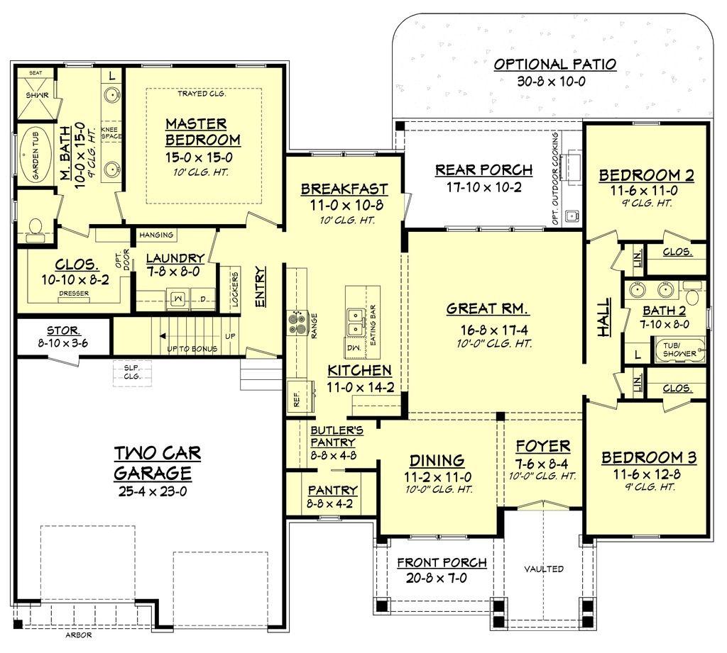 3 master bedroom house plans  wg   House plans  Pinterest  House Craftsman